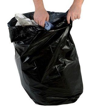 Black Garbage Bag 115×135