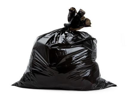 Black Garbage Bag 115×135 cm
