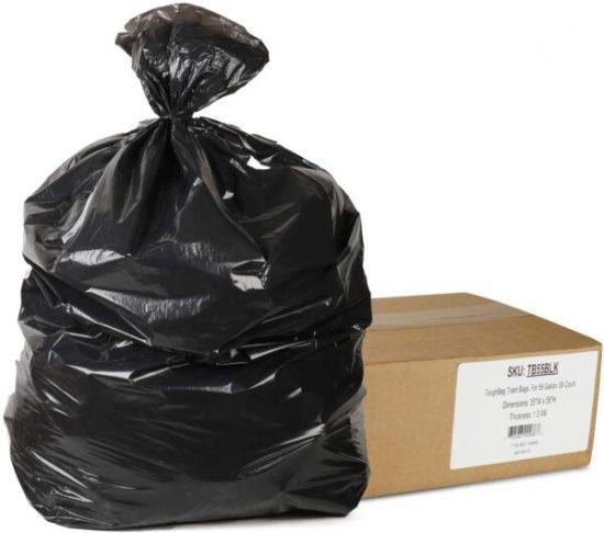 Black Garbage Bag 120×150 cm