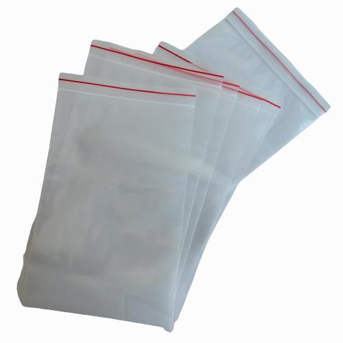 Poly Zip lock Bags 8×12